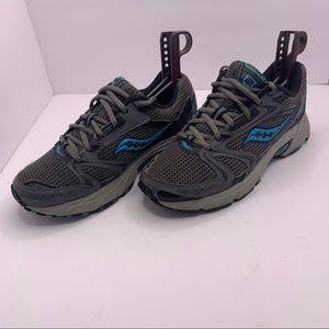 Saucony Women's Gray & Blue Running Sneakers 7.5